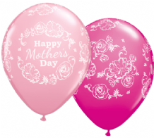Mothers Day Floral Damask - 11 Inch Balloons (25pcs)
